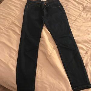 Madewell skinny skinny dark wash jeans size 27